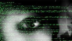 Source code eye macro woman dark Stock Footage