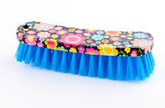 clothes brush isolated on white background - stock photo