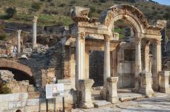 temple of hadrian, ephesus - stock photo