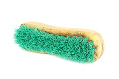 wooden brush for cleaning clothes - stock photo