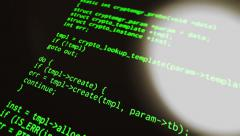 Source code flare diagonal Stock Footage