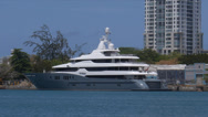 Stock Video Footage of superyacht mega yatch luxury ship Titan