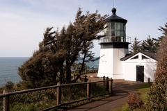 Cape mears lighthouse pacific west coast oregon united states Stock Photos
