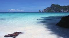 Tropical sea and beach phi phi island Thailand Stock Footage