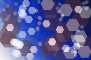 Stock Illustration of abstract blue background with hexagons