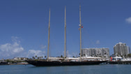 Stock Video Footage of schooner ATLANTIC tall sail ship