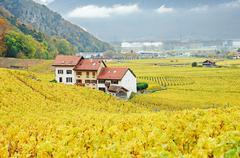 Swiss location - stock photo