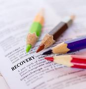 the word recovery - stock photo