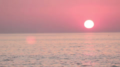 Outer banks sunrise with dolphins Stock Footage