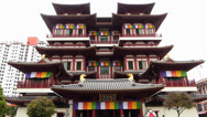 Stock Video Footage of Singapore Chinatown Buddha Tooth Relic Temple