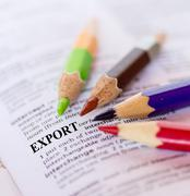 text the word export - stock photo