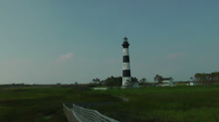 Bodie Island Station Lighthouse Stock Footage
