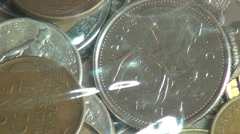 International Coins, Currency, Money Stock Footage