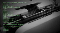 Source code typewriter Stock Footage