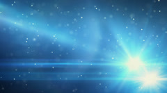 Blue light flares and particles loop background Stock Footage