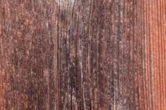 Upright board wall with worn old reddish paint Stock Photos