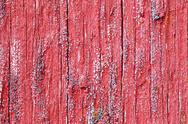 Stock Photo of bright red board wall with small mold growing