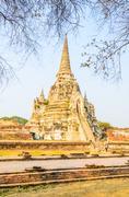 Wat phra si sanphet temple at ayutthaya thailand Stock Photos