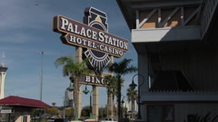 Palace Station Hotel/Casino Sign Stock Footage