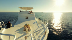 Yacht in the sea rest and relax Stock Footage