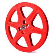 red film reel - stock photo