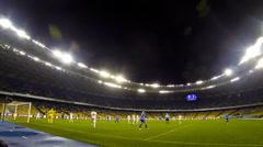 Ukraine Championship Game between FC Dynamo Kyiv and Tavriya Stock Footage