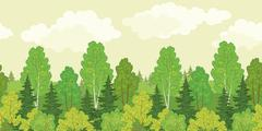 Stock Illustration of Seamless background, forest