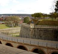 Entrance and watch tower in past petersberg citadel, erfurt Stock Photos