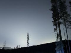 Starry night time-lapse, snow, mountain, satellite, meteor, light painting, tilt Stock Footage