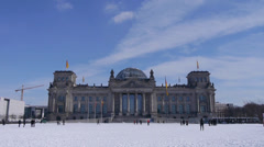German parliament in winter time Stock Footage
