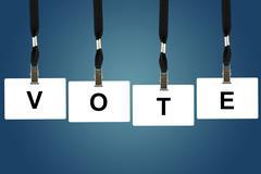 vote word - stock photo