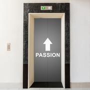 Elevator with way to passion Stock Illustration