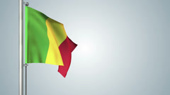 Mali flags loop pack 3 in 1 with background and loop 7sec Stock Footage