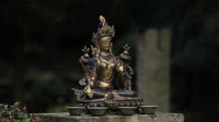 Statue of an asian goddess Stock Footage