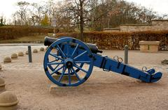old cannon in st. petersberg citadel barracks - stock photo