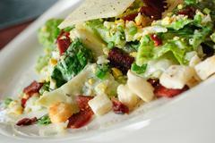 Closeup of caesar salad Stock Photos