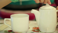 Stock Video Footage of Tea In A Cafe 2