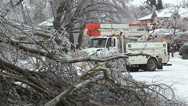Stock Video Footage of Ontario ice and freezing rain winter storm damage