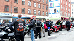 Motorcycle meeting Stock Footage