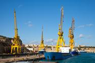 Ships in dry dock Stock Photos