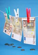 euro money laundering - stock photo