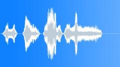 Male losing balance scream dry Sound Effect