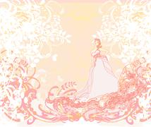 Beautiful abstract bride Stock Illustration