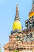 Wat yai chaimongkol temple in ayutthaya thailand Stock Photos