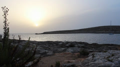 Mystical View Of Sea Missy Sun Set Stock Footage