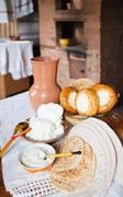 farm-style meal - stock photo