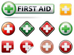 First aid icons Stock Illustration