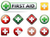 Stock Illustration of first aid icons