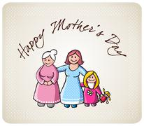 Stock Illustration of Greetings for mom in her day