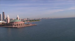 Navy Pier Chicago Aerial - stock footage